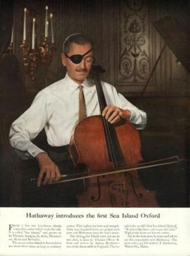 Một mẩu quảng cáo áo sơ-mi Hathaway của David Ogilvy - Nghệ Thuật Viết Quảng Cáo
